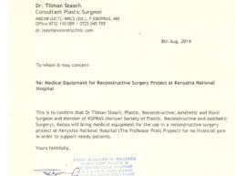 Prof Pratt Project Letter