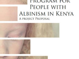 Program for people with Albinism Kenya